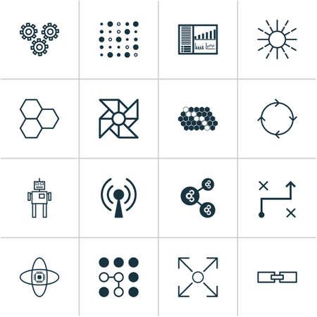 Learning icons set. Ilustrace