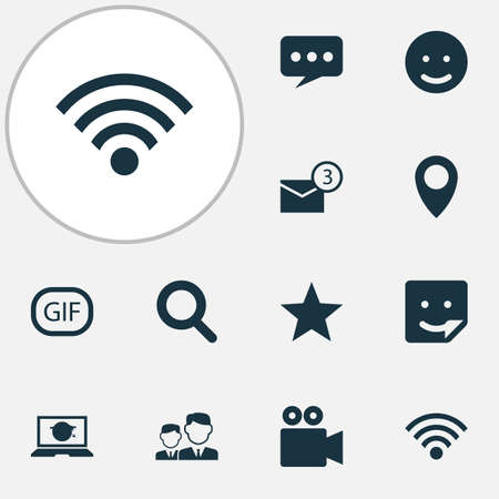 Internet Icons Set. Collection Of Chat, Inbox, Message And Other Elements Illustration