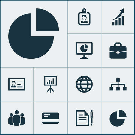 Job Icons Set. Collection Of Group, Suitcase, Payment And Other Elements