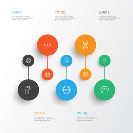wap: Web Icons Set. Collection Of Calendar, Exit, Research And Other Elements Illustration