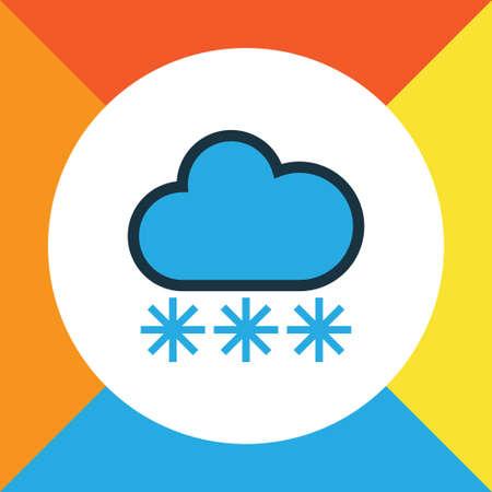 Freeze Colorful Outline Symbol. Premium Quality Isolated Snowing Element In Trendy Style. Illusztráció