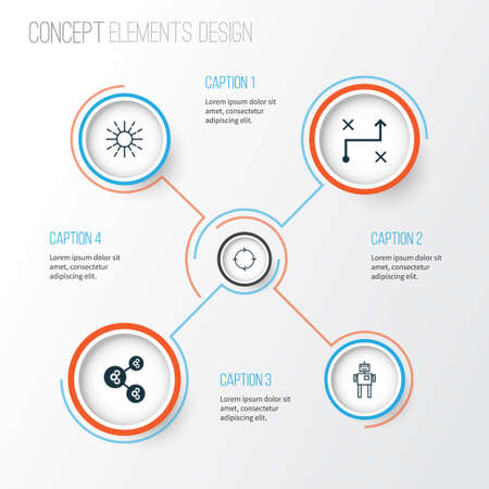 Learning Icons Set. Collection Of Algorithm Illustration, Recurring Program, Cyborg And Other Elements. Also Includes Symbols Such As Shared, Robot, Illustration. Illustration