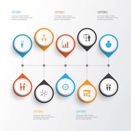 Board Icons Set. Collection Of Approved Target, Group Organization, Solution Demonstration And Other Elements