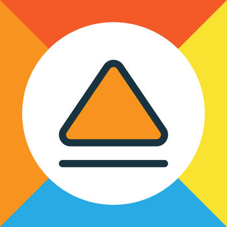 eject icon: Premium Quality Isolated Top Element In Trendy Style.  Eject Colorful Outline Symbol. Illustration