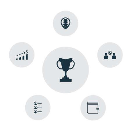 Resources icon set. Illustration