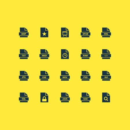 ファイルのアイコンを設定します。ソフトウェア、電子出版物、ズーム、その他の要素のコレクションです。また Jpg、Rar、一時などの記号が含まれ