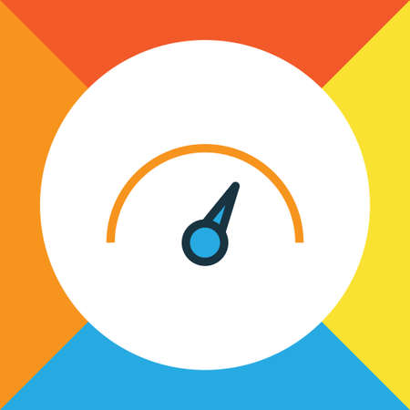 Premium quality isolated hail element in trendy style. Speedometer colorful outline symbol. Illustration