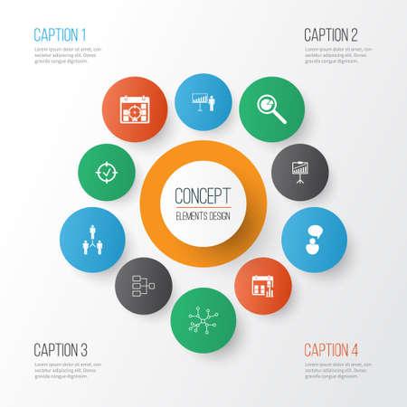 Board icons concept design. Illustration
