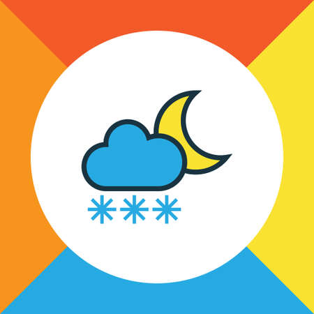 overcast: Premium Quality Isolated Freeze Element In Trendy Style.  Twilight Colorful Outline Symbol.  Illustration