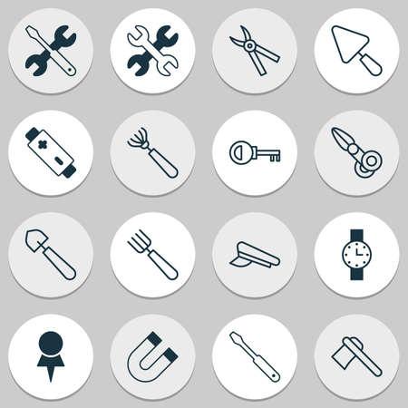 Incluye iconos como atracción, llave, contraseña y otros. Conjunto de iconos de equipo. Foto de archivo - 89619694