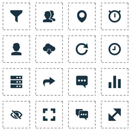 Includes Icons Such As Map Pin, People, Forward And Other.  User Icons Set.