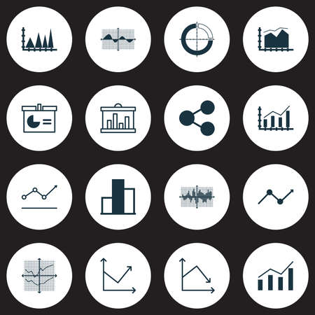 Set Of Graphs, Diagrams And Statistics Icons. Premium Quality Symbol Collection Imagens - 89619704
