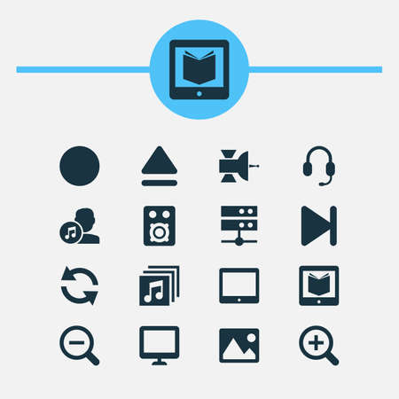 melodist: Includes Icons Such As Top, Palmtop, Finish And Other.  Music Icons Set.  Illustration