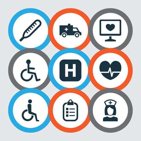 Includes Icons Such As Mercury, Handicapped, Rhythm.  Drug Icons Set.  Ilustração