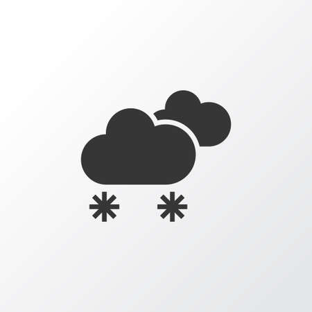 Weather Icon Symbol. Premium Quality Isolated Cloudy Small Amount Of Snow Element In Trendy Style.