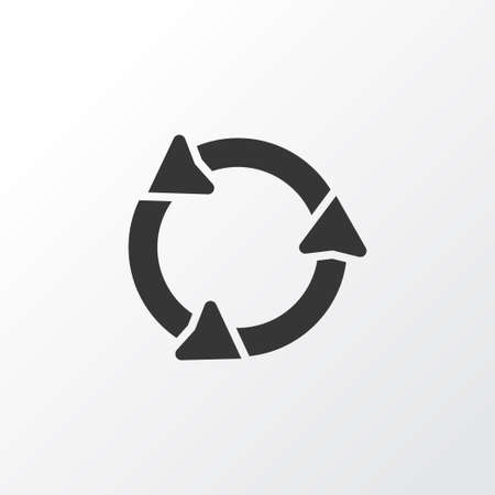 Illustration of roundabout icon in trendy style.