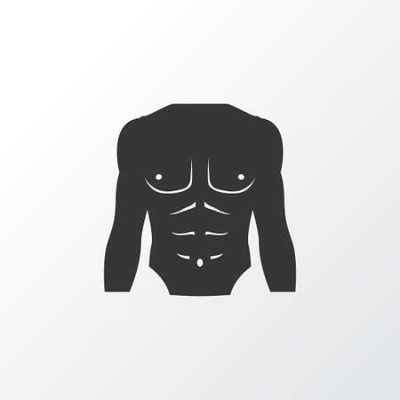 Chest Icon Symbol. Premium Quality Isolated Athletic Element In Trendy Style.