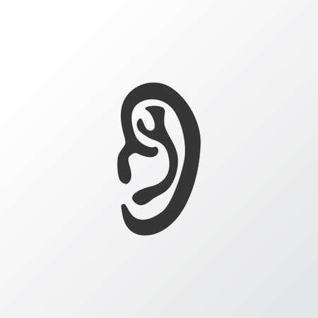 耳アイコンのシンボル。プレミアム品質は、トレンディなスタイルの Listen 要素を分離しました。  イラスト・ベクター素材