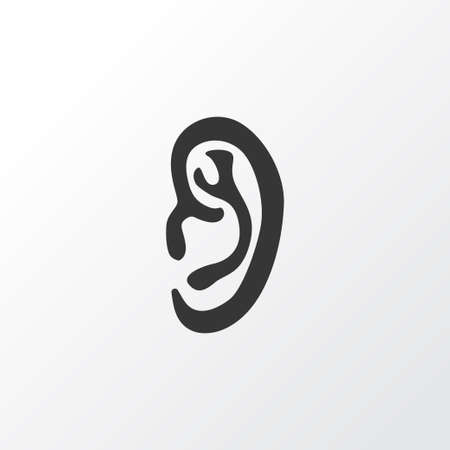 Ear Icon Symbol. Premium Quality Isolated Listen Element In Trendy Style.
