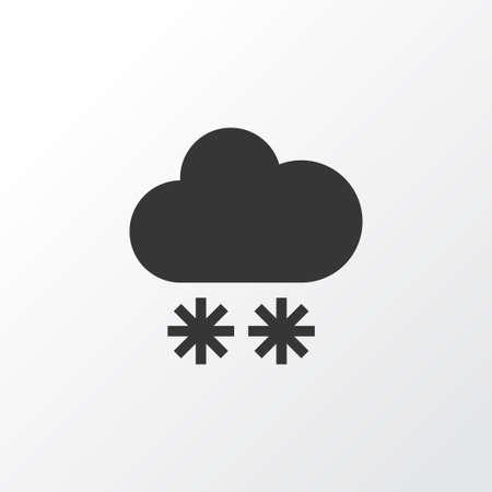 Winter Icon Symbol. Premium Quality Isolated Snowfall Element In Trendy Style. Illusztráció