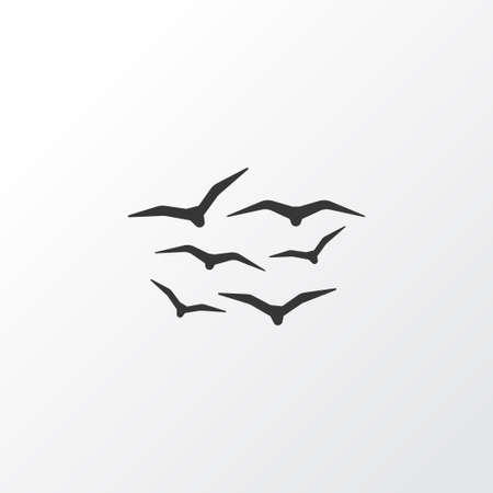 Gulls Icon Symbol. Premium Quality Isolated Seagull Element In Trendy Style.