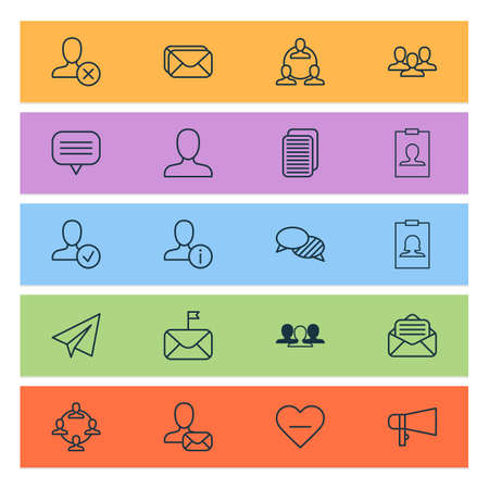Communication Icons Set With Teamwork, Ban, Read Message And Other Text Bubble