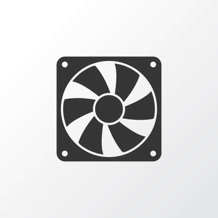 Cooler Icon Symbol. Premium Quality Isolated Fan Element In Trendy Style.