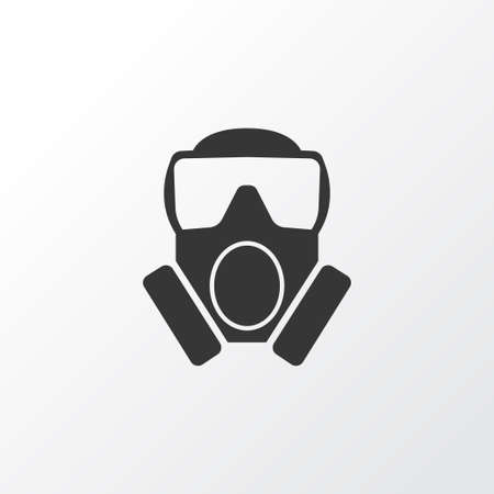 Toxic Gas Icon Symbol. Premium Quality Isolated Mask Element In Trendy Style.