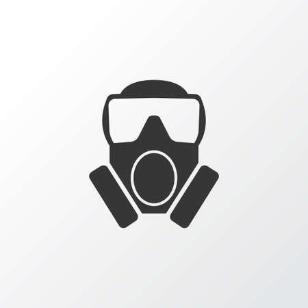 Symbole d'icône de gaz toxique. Élément de masque isolé de qualité Premium dans un style branché.