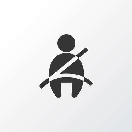 Seat belt not on icon