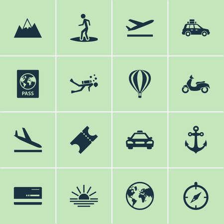 Exploration icons set