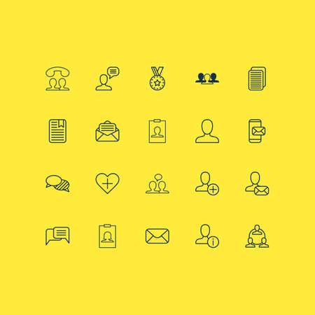 Network icons set Vetores
