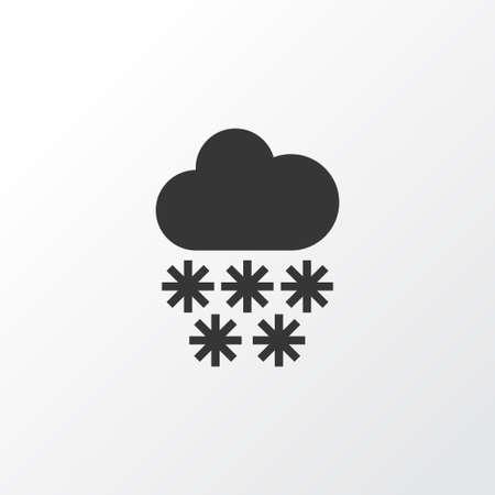Snowfall icon symbol Illusztráció