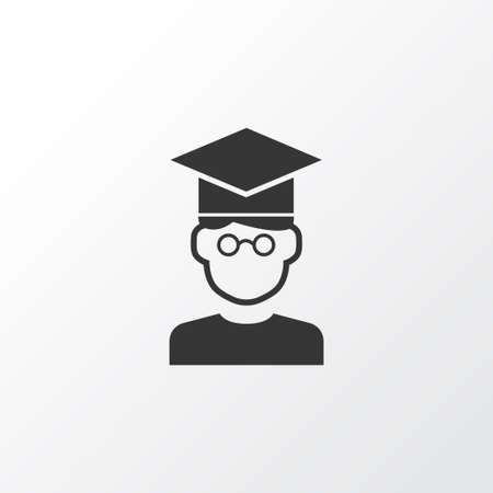 Student icon symbol. Premium quality isolated pupil element in trendy style.