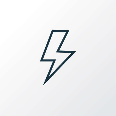 Flash icon line symbol. Premium quality isolated lightning element in trendy style.