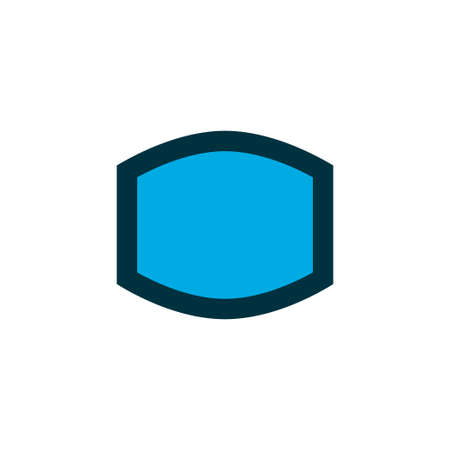 Wide angle icon colored symbol. Premium quality isolated monitor element in trendy style.