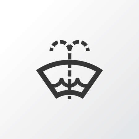 Washer Fluid Icon Symbol Premium Quality Isolated Windscreen
