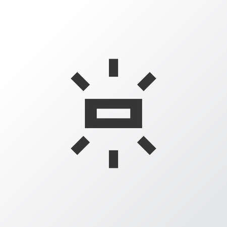 Wb sunny icon symbol. Premium quality isolated brightness element in trendy style. Çizim