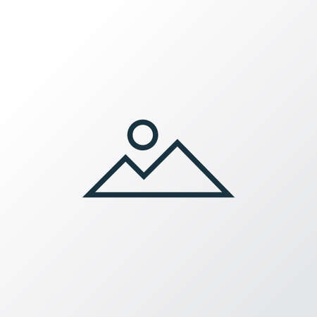 Mountain icon line symbol. Premium quality isolated landscape element in trendy style. Illustration