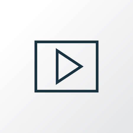 Multimedia icon line symbol. Premium quality isolated slideshow element in trendy style.