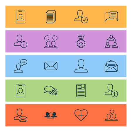 Network icons set with group, add, medal and other call elements. Isolated vector illustration network icons.