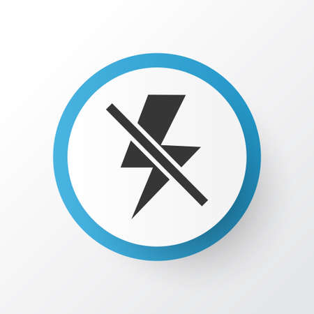 Flash off icon symbol. Premium quality isolated lightning element in trendy style.