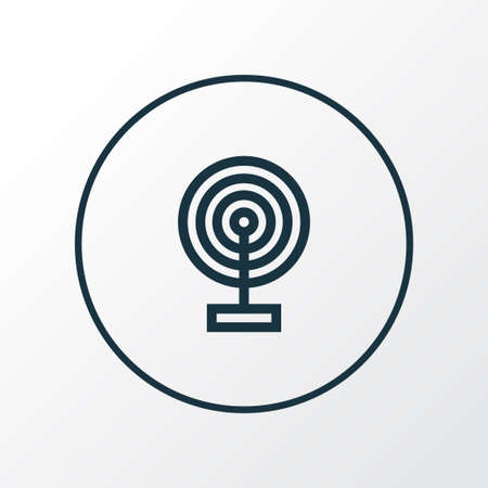 Broadcast icon line symbol. Premium quality isolated cast element in trendy style.  イラスト・ベクター素材