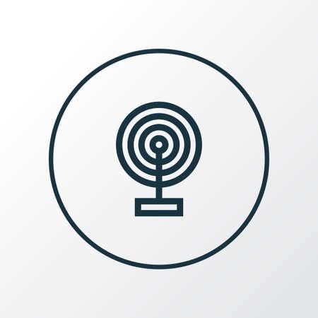Broadcast icon line symbol. Premium quality isolated cast element in trendy style. 일러스트