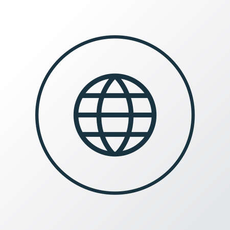 Earth icon line symbol. Premium quality isolated globe element in trendy style. Stock fotó - 92226387