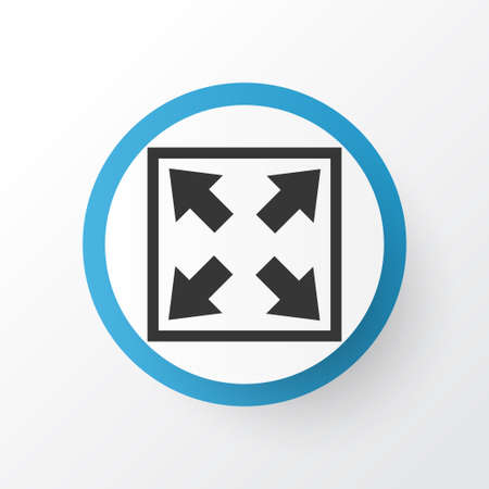 Widen icon symbol. Premium quality isolated enlarge element in trendy style. Vettoriali