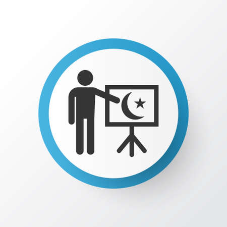 Teaching icon symbol. Premium quality isolated leaning  element in trendy style.