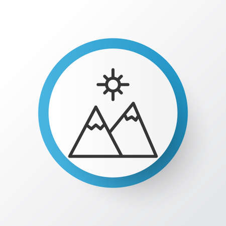 Mountains icon symbol. Premium quality isolated landscape element in trendy style.