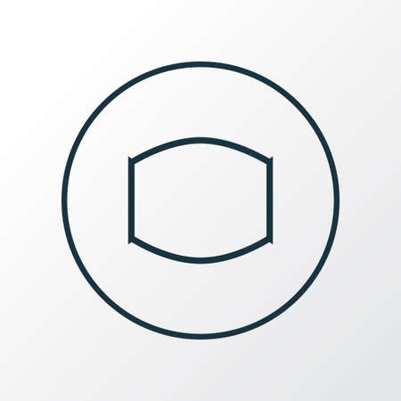 Monitor icon line symbol. Premium quality isolated wide angle element in trendy style. Illustration