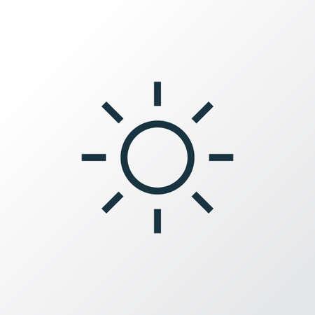 Shine icon line symbol. Premium quality isolated brightness element in trendy style.